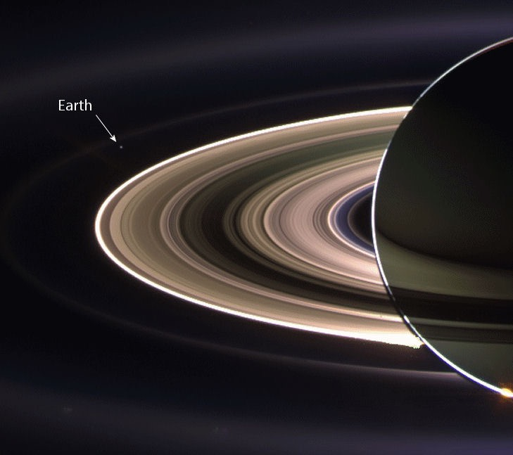 Earth seen by Saturn